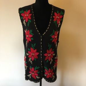 Sweaters - Ugly Christmas Sweater Holly Vest Large
